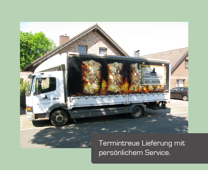 Lieferung bis in die Garage in Oberhausen
